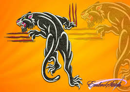 Panther Paw Embroidery Design Ruthless Panther Embroidery Design 3 Sizes