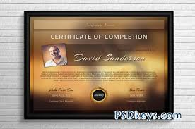 modern certificate template photoshop vector  modern certificate template 43841