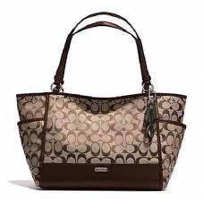 COACH PARKER LARGE SIGNATURE CARRIE TOTE SATCHEL OR LAPTOP BAG SHIPS 1 DAY  28728  Coach