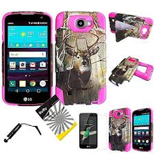 verizon lg phone cases. for lg k4 /lg spree optimus zone 3 vs425pp rebel /ituffy 3items: screen film+stylus pen+dual layer shockproof plastic cover soft rubber kickstand verizon lg phone cases