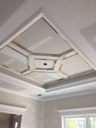 Tray Ceiling Custom Craftsman Style Home Tray Ceiling Dining Room Wernert