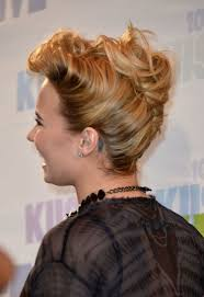 French Twist Hair Style mustsee hair of the day demi lovatos sexy tousled french twist 3951 by stevesalt.us