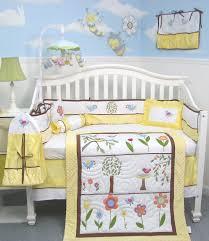 soho summer bird singing baby bedding yellow