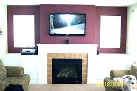 tv above fireplace ideas above gas fireplace ideas above fireplace where to put cable box can