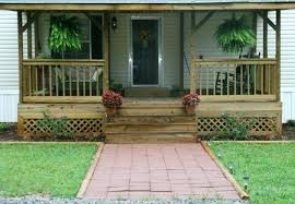 how to build a front porch on mobile home pictures