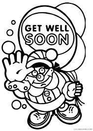 Small Picture get well soon coloring pages with balloons and stars Coloring4free