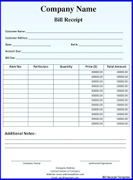 Billing Invoice Template Word Rent Receipt Document Business