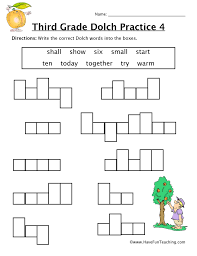 3rd Grade Sight Words Dolch Third Grade Sight Words S To W Worksheet Have Fun Teaching