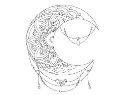 Moon Mandala Design Artwork Tutorial