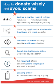 Donate Consumer Scams How To Infographic Information Avoid And Wisely AwxZxqS5
