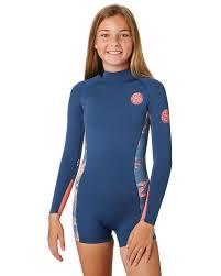 Rip Curl Dawn Patrol Size Chart Junior Girls Dawn Patrol 1 5mm Ls Springsuit
