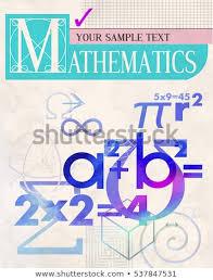 Mathematics Vector Cover Background Scientific Formulas Stock Vector