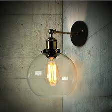 edison style lighting fixtures. BAYCHEER HL416426 Vintage Industrial Edison Style Finish Round Glass Ball Shape Wall Lamp Lighting Fixture Fixtures A
