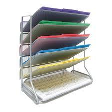 Desk Organizer Seville Classics 6 Tier Mesh Desk Wall Organizer Legal Size