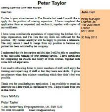 Catering Supervisor Cover Letter Example Learnist Org
