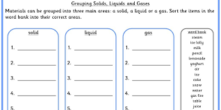 Grouping Solids, Liquids and Gases | Classroom Secrets