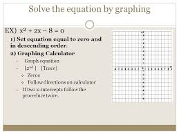 4 solve the equation by graphing