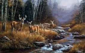 2018 hot ing hd print oil painting on canvas rosemary millette fall of the deer 22x32 from wuhaisu 19 1 dhgate com
