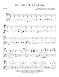 Drum d ''''w û ûû. The Little Drummer Boy Violin Duet Print Sheet Music Now