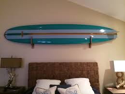 Oversized Fans Surfboard Wall Art Home Decorations Surfing Waves Blue  Turquoise Colours Polished Finish