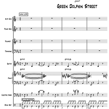 Tenor Sax Chart On Green Dolphin Street For Little Big Band