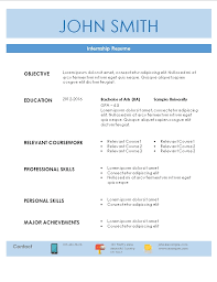 Internship Resume Enchanting Internship Resume Template