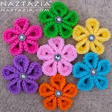 Crochet Flower Pattern For Headband Stunning Crochet Kanzashi Flower Flowers By Donna Wolfe From Naztazia