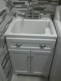 laundry sink vanity. Laundry Vanity In White And ABS Sink Faucet Kit U