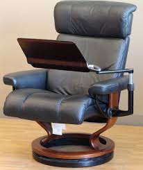 image of stressless recliner personal computer laptop table for ekornes throughout reclining computer chair how