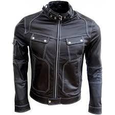 mens slim fit designer fashionable black leather moto jacket mens slim fit designer fashionable black