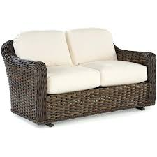 replace cushions for south double glider wicker loveseat white synthetic