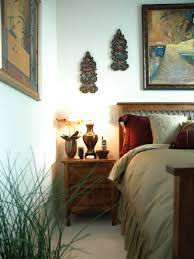 Bedside Nightstand With Asian Decor And Artwork (Image 10 of 32)