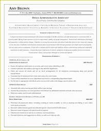 Resume Templates Administrative Assistant Free Administrative Assistant Resume Templates Of