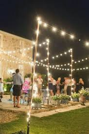 diy outdoor party lighting. For The Patio And Frame A Dance Floor -- Nighttime Outdoor Small Wedding Reception. Like Simple String Lights. Diy Party Lighting B