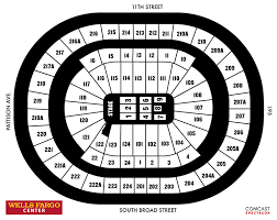 Wachovia Center Philadelphia Seating Chart Seating Charts Wells Fargo Center