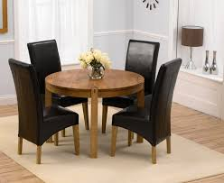 elegant round glass dining table sets for 4