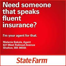 auto insurance shelton wa from state farm agent melanie bakala