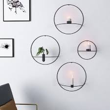 metal wall candle holders