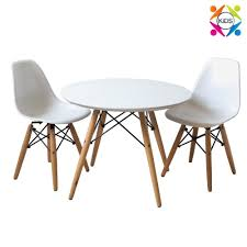 little eames childrens table and chairs set inspired by charles lipper round little ray eiffel