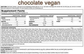 shakeology chocolate vegan supplement facts vegan chocolate shakeology vegan shakeology chocolate nutrition