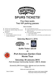 port aransas garden club spurs ticket raffle