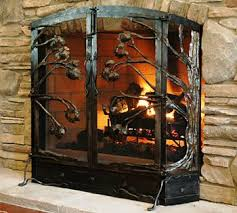 hand forged fireplace screen. hand forged wrought iron firescreens \u0026 fire tools at black mountain works fireplace screen