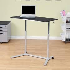 simple standing desk appealing secretary wood table top metal legs 18