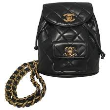 RARE Chanel Vintage Black Quilted Leather Mini Backpack For Sale ... & RARE Chanel Vintage Black Quilted Leather Mini Backpack For Sale Adamdwight.com