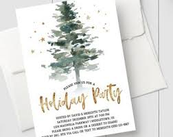 Printable Holiday Party Invitations Christmas Party Invitations Etsy