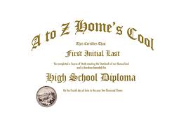 Homeschool Diploma Photoshop Template A2z Homeschooling