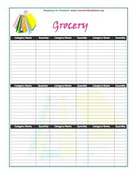 Thanksgiving Grocery List Template Template Ideas Grocery List Staggering Free Printable Blank