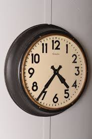 large 1930 s industrial factory clock