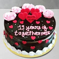 Send Chocolate Anniversary Cake Online By Giftjaipur In Rajasthan