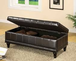 indoor storage benches furniture bedroom chair with seat black leather bench living room storage bench53